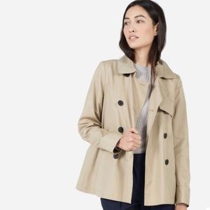 Everlane   The swing trench coat tan color